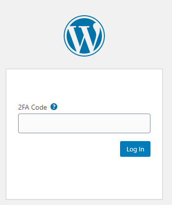 Wordfence asking for 2FA authentication code